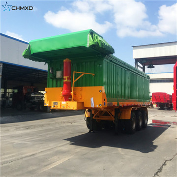 Rock Type Dump Tipper Semi Truck Trailer