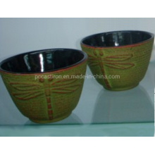Hot Sale Chinese Embossed High Quality Enamel Cast Iron Cup