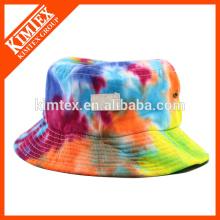 Дешевые и модные галстук окрашенные ведро шляпу с логотипом патч