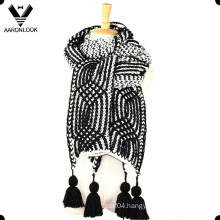 2016 New Heavy Winter Hand Knit Crochet Thick Scarf Hang Fringe