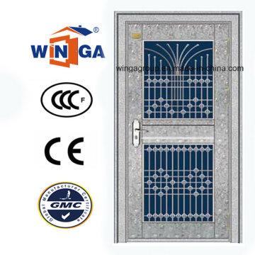 Waterproof Outside Using Stainless Steel Security Glass Door (W-GH-22)
