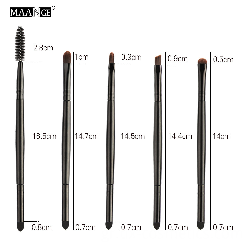 5 Piece Double Head Eye Makeup Brushes 5