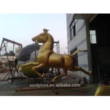 Moderne Metall-Messing Pferd Skulptur Outdoor laufen Pferd Skulptur