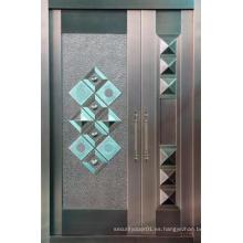 Puerta de seguridad de acero de aluminio de diseño nuevo