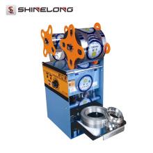 Taza de jugo de acero inoxidable Máquina de sellado de vaso de plástico