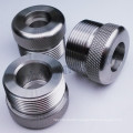Knurling Stainless Steel Part with CNC Turning CNC Lathe CNC Machining