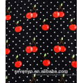 Velour Printing Cherry with dots Black beach towel BT-369 China Supplier
