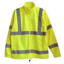 Светоотражающие полосы флис высокая безопасность видимость пальто (YKY2807)