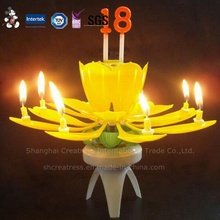 Farbkasten-Verpackungs-Musik-Blumen-Kerzen mit Zahl
