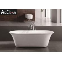 Aokeliya modern acrylic whirlpool freestanding bathtub coated with fiberglass standing tub for soaking