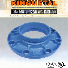 """Pn16 2 1/2"""" Victaulic Cast Iron Pipe Fitting-Threaded Flange Adaptor."""
