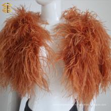 Más colores Real auténtico de piel de plumas de abrigo de piel de manta mantón para las mujeres