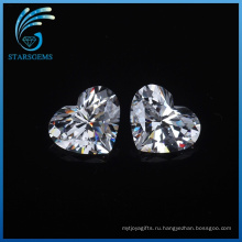Горячая Распродажа низкая цена 5х5мм форме сердца термостойкого Stoens CZ кубический цирконий