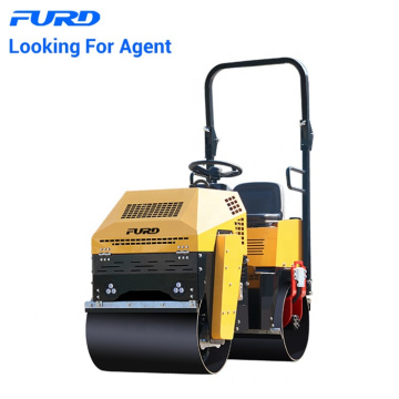 Furd Official 1 ton Light Vibratory Double Drum Road Roller Fyl-880