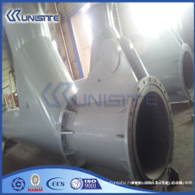 high pressure steel y pipe fitting with flanges (USB3-001)