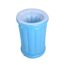 Balde de gelo inflável em formato de garrafa em PVC