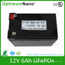 Rechargeable 12V 6ah LiFePO4 Battery for Lawn Light