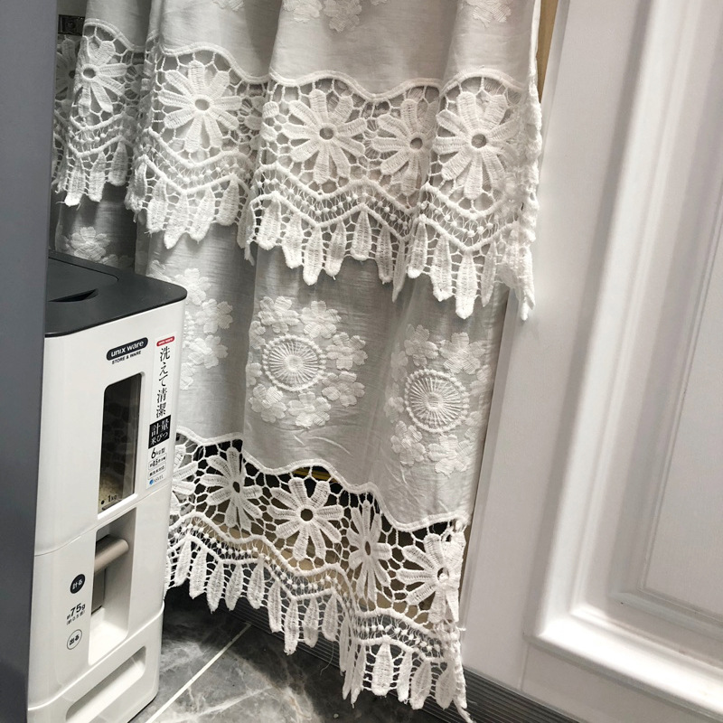 Pure White Embroidery Door