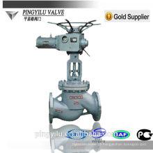 Válvula de globo de aço fundido de aço inoxidável motorizado PN 16-100 fabricante