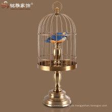 Messing Farbe Eisen Material Birdcages für zu Hause Interieur Tischdekoration