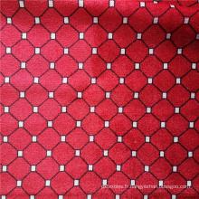 Tissu imprimé de tapisserie d'ameublement de tissu de polyester de velours à vendre