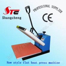 38 * 38cm CE plat Simple chaleur Press Machine manuelle chaleur transfert Machine T-Shirt chaleur Machine d'impression de transfert
