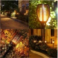 Landscape Lamps Solar Garden Exterior Flame Effect Light