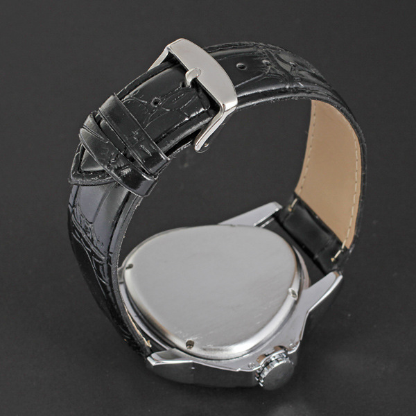 winner triangle high quality leather band man watch unique skeleton design watch