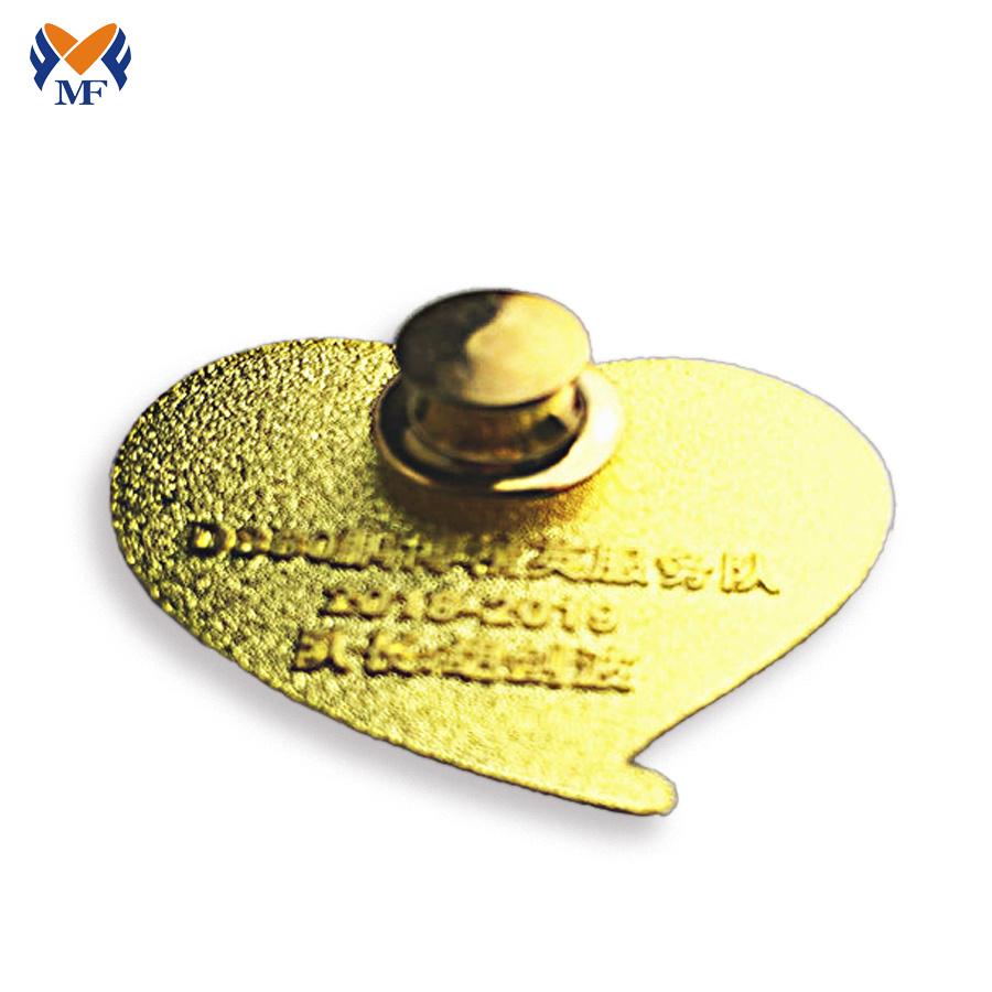 Heart Shape Badge Pin
