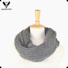 Invierno cálido punto cuello bufanda tubo
