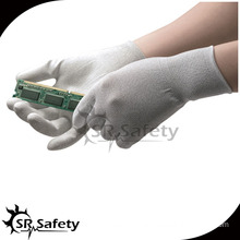 SRSAFETY 13g nylon & carbon PU coated ESD palm fit gloves