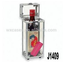 New arrival!professional aluminum wine gift box for single bottle