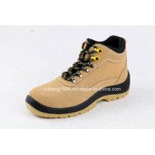 Botas de borracha de couro altas das sapatas de segurança que trabalham calçados do trabalho da forma dos calçados