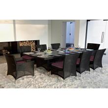 Классический сад плетеное кресло 9pcs столовые наборы