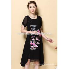 OEM neue Entwürfe Großhandelsdamen-neues Modell beiläufige schwarze Oansatz Kleider für Frauen