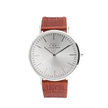 Relógio de pulso de couro de homem de aço inoxidável de relógios personalizados
