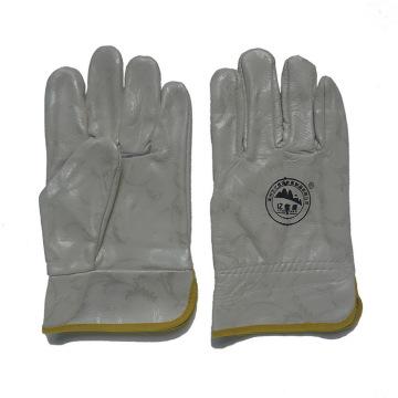 Móveis de couro de trabalho de segurança Luvas de mão protetora para Riggers