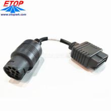 Câble de diagnostic de camion lourd OBD2 femelle au connecteur femelle J1708