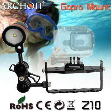 Montre Gopro à fond réglable Archon Z10, Gopro Hero 3 Mount for Diving Lampe de poche