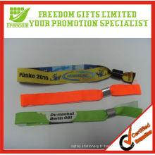 Bracelets en tissu tissé de haute qualité
