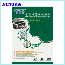 A4 Papel de transferência Inkjet água Slide decalque