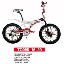 Estilo libre BMX de bicicleta con rueda de aluminio 20 pulgadas