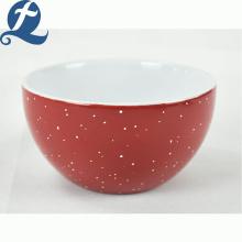 Оптовый ресторан круглый суп с принтом керамическая миска для риса