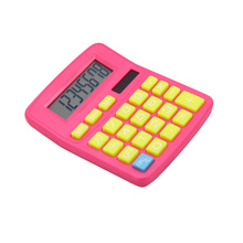 Solar power sound 8 digits calculator with colorful design