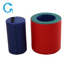 Juguete educativo azul de juego suave interior cilíndrico
