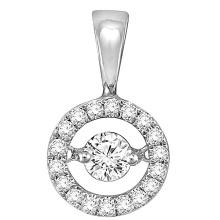 Runde 925 Silber Anhänger Schmuck mit Tanzen Diamond