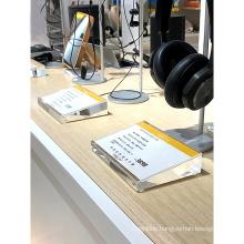 Desktop Sign Info Card Magnetic Photo Frame Display Acrylic Price Tag Label Holder