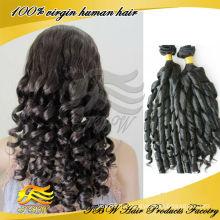горячие новые продукты для 2014 романтика скручиваемость бразильского Виргинские волос
