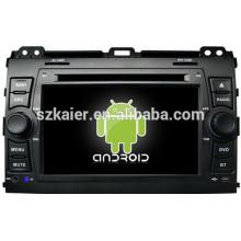 Reproductor de DVD de doble núcleo para Android 4.4 Mirror-link Glonass / GPS 1080P para Toyota Prado 120 con GPS / Bluetooth / TV / 3G