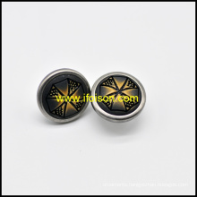 Imitation Horn Button Combinated with Metal Part